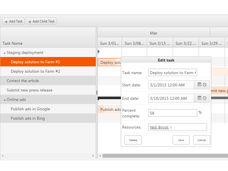 Virto sharepoint gantt chart for office 365 collab365 - Is sharepoint included in office 365 ...