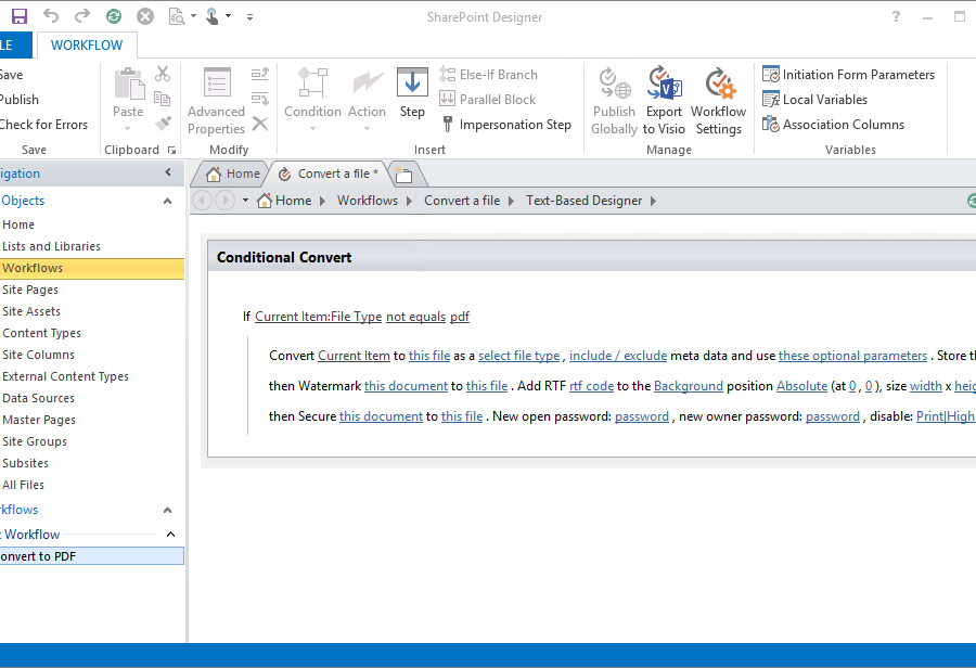 sharepoint workflow templates download - muhimbi pdf converter for sharepoint 2007 2016 collab365