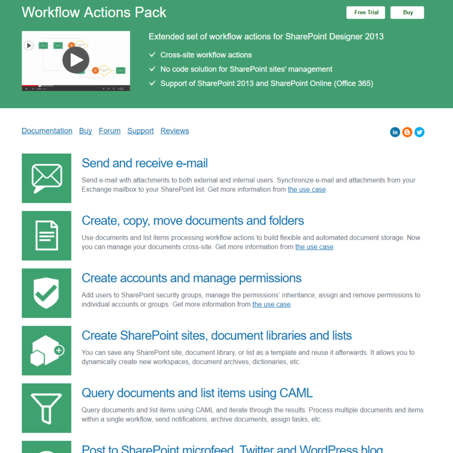 Workflow Actions Pack | Collab365 Directory Collab365 Directory