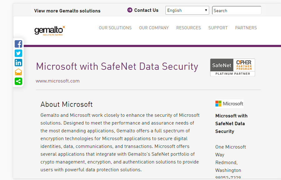 gemalto security formerly safenet collab365 directory collab365