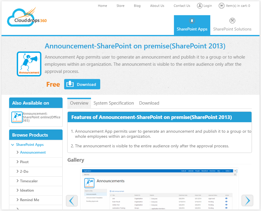 Announcement-SharePoint on premise.PNG