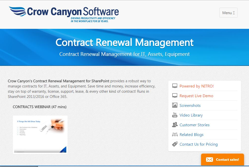 contract management sharepoint