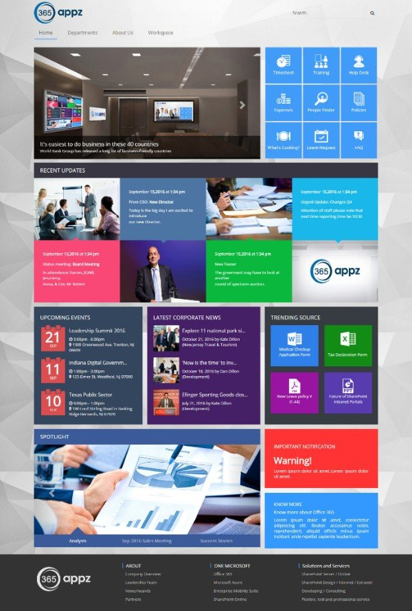 Find The Best SharePoint Intranet Templates Collab Directory - Office 365 sharepoint templates